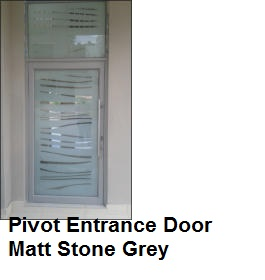 Pivot Entrance Door Matt Stone Grey